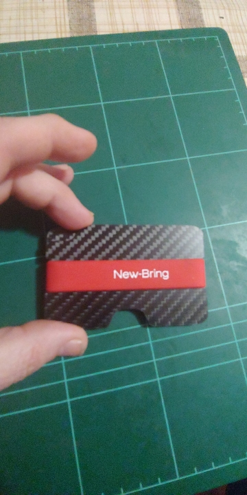 NewBring 100% Real Compact Carbon Fiber Mini Money Clip Credit Card Sleeve ID Holder With RFID Anti-Thief Card Wallet photo review