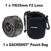 Yongnuo 35mm lens YN35mm F2 lens Wide-angle Large Aperture Fixed Auto Focus Lens For canon With MINI Camera Lens Pouch Bag