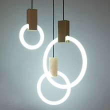 Modern Duplex Round Ring Pendant Lights Glass Lamps Simple Stairs Hollow Bedroom Restaurant Lighting T9 light pendant lights rotating stairs stairs lights lights mediterranean stairs lamps light simple stairs pendant lamps lo1027