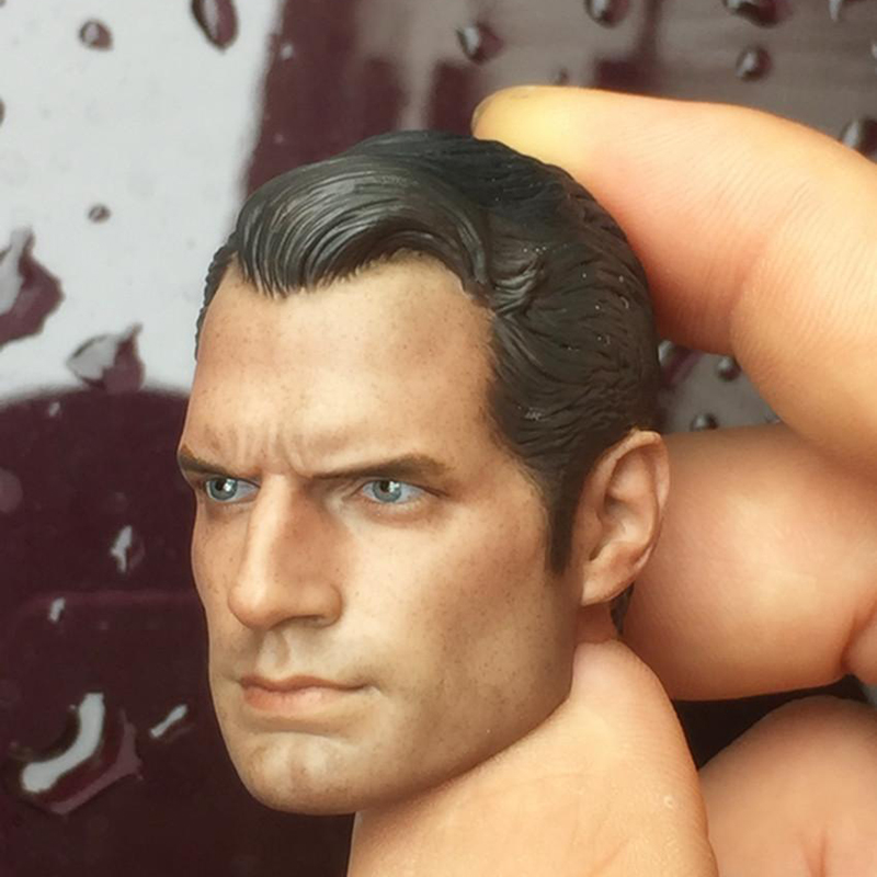 1//6 Scale Clark Kent Superman Head Carving Henry Cavill Decadent Ver Head Model