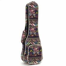"21″ 23″ 26"" Canvas Ukulele Guitar Bag Backpack Guitar Case Box Cover with Double Shoulder Strap For Musical Instruments Lover"
