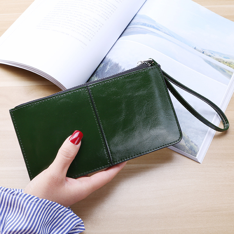 PACGOTH New Fashion Women Office Lady PU Leather Long Purse Clutch Zipper Business Wallet Bag Card Holder Big Capacity Wallet