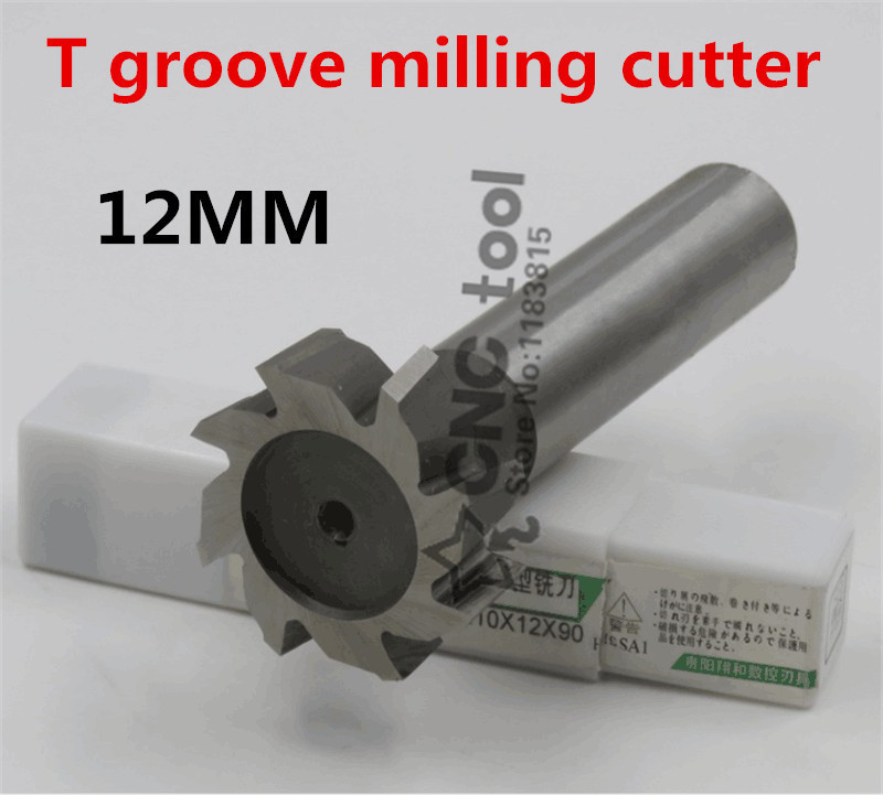 Free Shipping 1PCS 12*2*3*4*5 High Speed Steel Straight Shank T Groove Milling Cutter T Type Straight Shank Milling Cutter