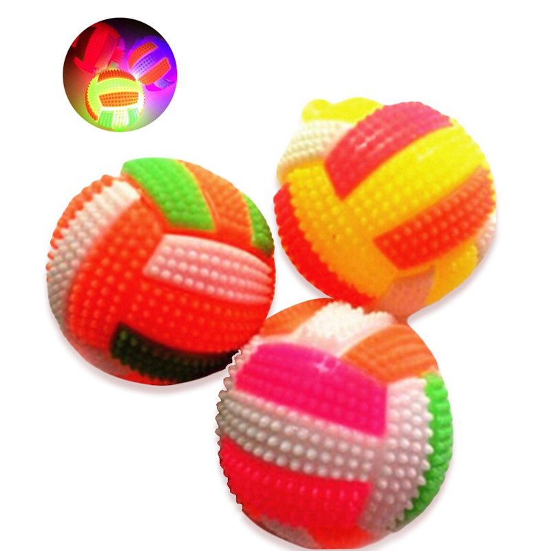Baby Light-up And Sound Toy Volleyball Bouncing Balls Children Luminous Ball Toy Party Gift Random