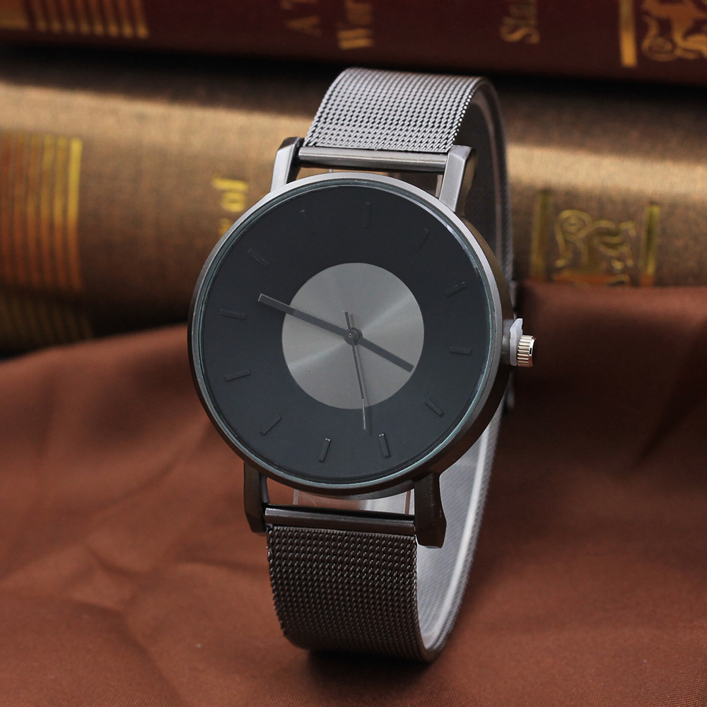 Fashion watch Brand Gold Silver Casual Quartz Watch men Mesh Stainless Steel Dress men Watches Relogio Feminino Clock kol saati