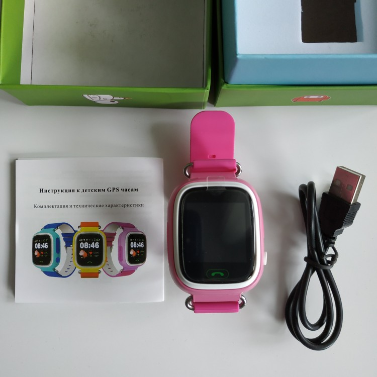 Q90 GPS Child Smart Watch Phone Position Children Watch 1.22 inch Color Touch Screen WIFI SOS Smart Baby Watch Q50 q80 q60 Watch