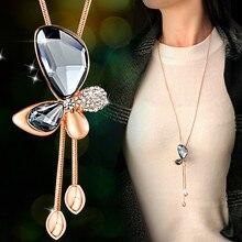 3 вида цветов Новые сектора рыбы Кристаллы из Австрии опал колье одежда ожерелья 925 ювелирных изделий для Для женщин для рождественской вечеринки