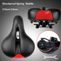 Shockproof Spring Saddle Cycling Saddle Thicken Wide Soft Seat Pad MTB Mountain Road Bike Saddle Rear Bicycle Accessories