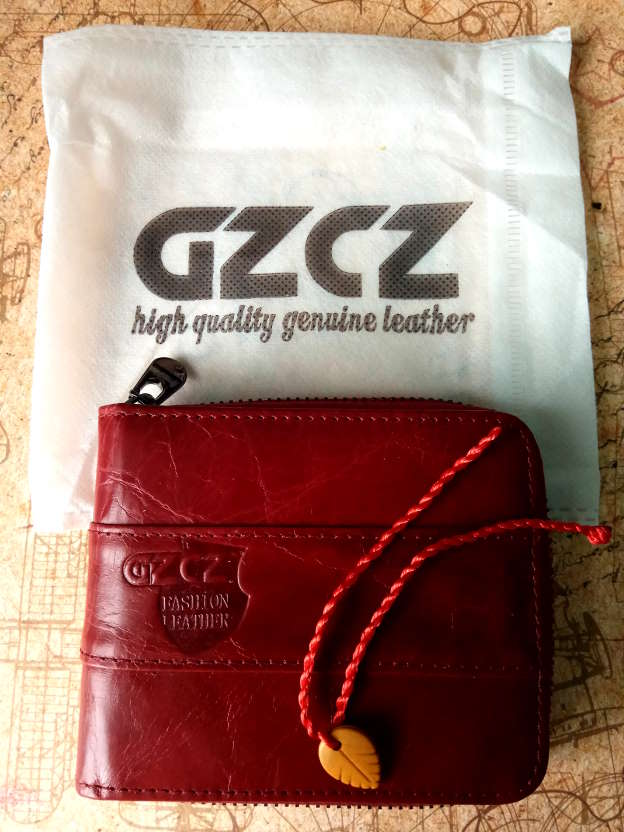 GZCZ Wallet Genuine Cow Leather Women Casual Solid Mini Wallets Short Zipper Design Coin Pocket Purse Card and Photo Holder New photo review