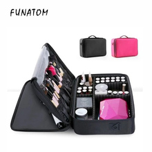 Makeup Bag Organizer Professional Artist Box Larger Bags Cute Korea Suitcase fashion cosmetic bag Case