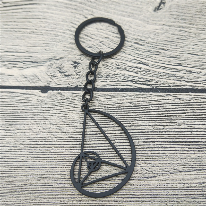 New <font><b>Spiral</b></font> with Triangle Key Chains Fashion Science Biology Jewellery <font><b>Fibonacci</b></font> Ratio Psychology Keychain Keyring For Women Men image