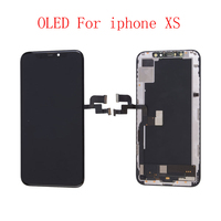 Rigid Flexible OLED AAA Quality Tested Work Well LCDs For iPhone XS LCD Display With 3D Touch Screen Digitizer Assembly Gifts