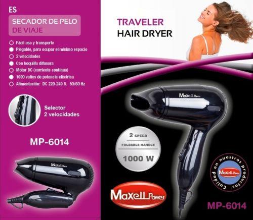 DRYER HAIR SEMI PROFESSIONAL TRAVEL FOLDING 1000 W QUALITY machine drier MP-6014