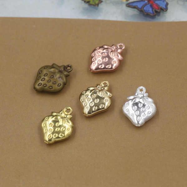 15*11*4 มม.20 pcs ทองแดง Antique Bronze/Silver สตรอเบอร์รี่รู Charms Filigree ทำด้วยมือจี้ลายนูนเชื่อมต่อชิ้นส่วน