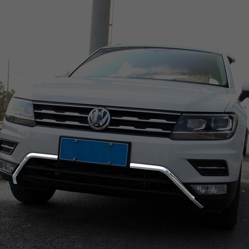 Front Bumper exterior promote chromium automobile accessories car styling sticker strip parts 17 FOR Volkswagen Tiguan L automobile car styling accessories chromium 2014 17 modified bumper grille trim strip grid decorative bright for toyota vios