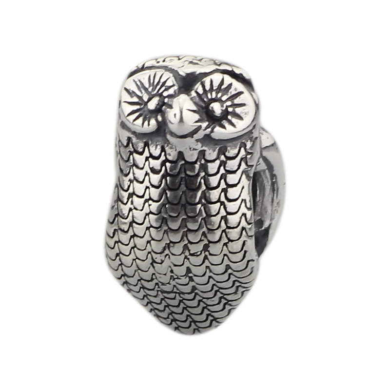 Charms 925 sterling Silver Jewelry For Women Original Animal Owl Beads Fit Authentic Troll Bracelets Pendant Beads Jewelry