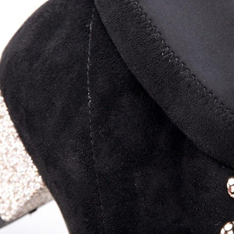 Cheville Slip Bout Orcha Rivet Lisa Bottes Med Mujerc804 Talons Size34 Sur Chaussures Femmes Bota 39 Hiver Épais Carré Hq6B4x6tw