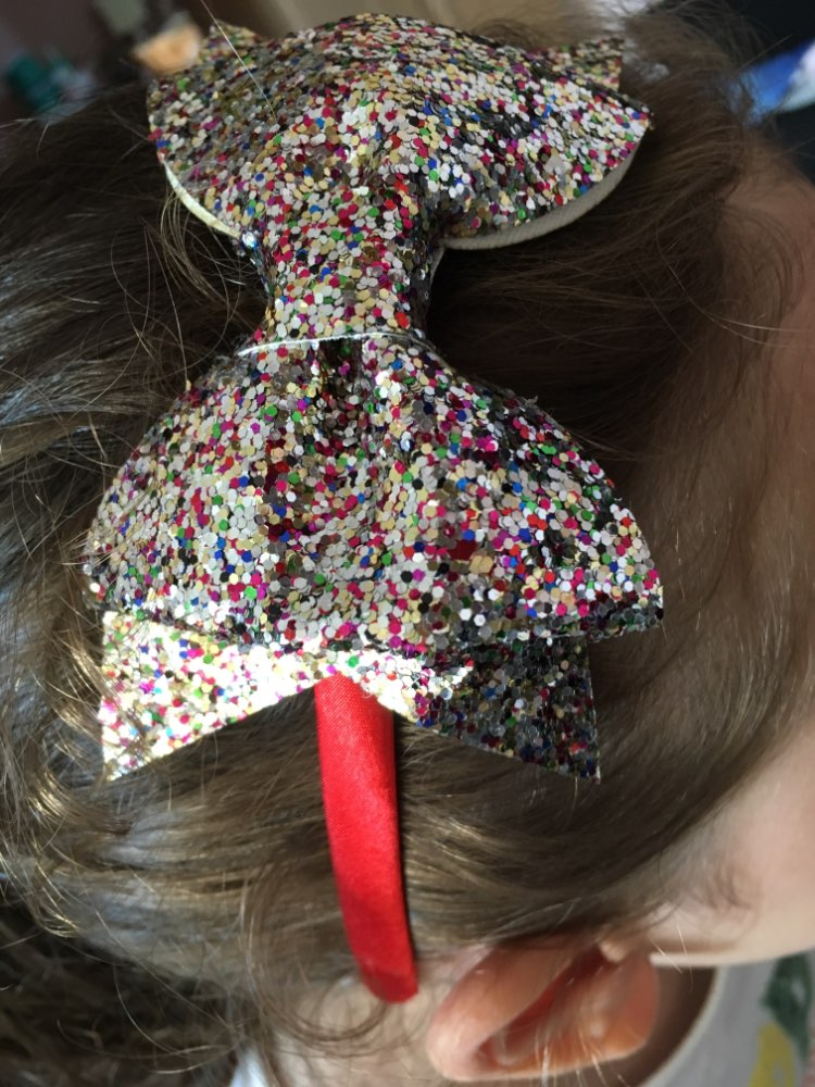 Princess Girls Sequin Bow Tiara Headband for Kids Handmade Glitter Pearl Crown Hair Bow Hairband Boutique Hair Accessories