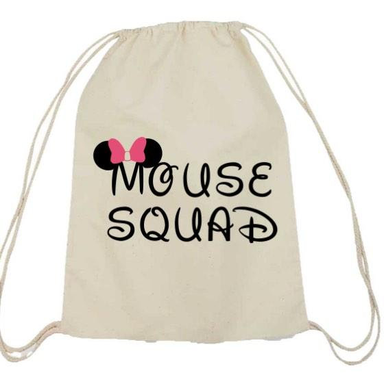 Personalized Wedding Bride Squad Bachelorette Drawstring Bags Bridesmaid Mouse Bridal Party Favors Bag Backpacks In Gift Wring Supplies