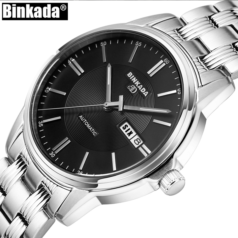 BINKADA Automatic Watch Men High Quality Mechanical Watches Luxury Brand Business Watch Casual Men Watch Relogio Masculin ultra luxury 2 3 5 modes german motor watch winder white color wooden black pu leater inside automatic watch winder