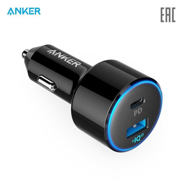 Автомобильное зарядное устройство Anker PowerDrive II PD with 1 PD and 1 PIQ  для авто, автомобиля, официальная гарантия, быстрая доставка
