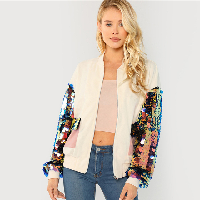 Bohemian White Sequin Jacket
