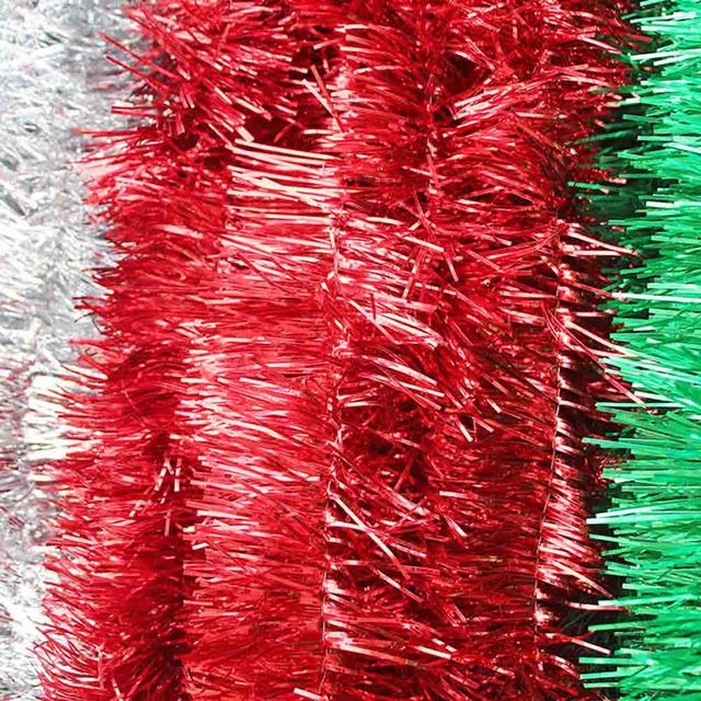 1 PCS 2 Meter Christmas Xmas Tree Party Tinsel Rose Pink Green Silver Gold Red Blue Decorations Top Quality