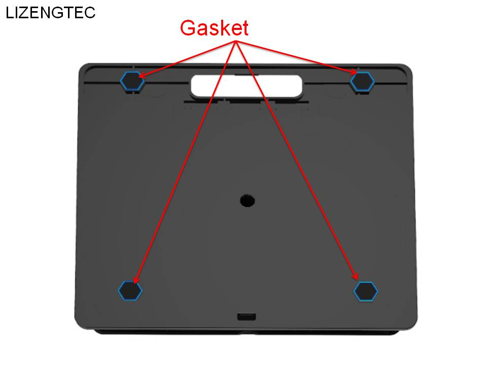 LIZENGTEC Aluminum 6 Heights Adjustable Laptop Stand With Heat Dissipation 6