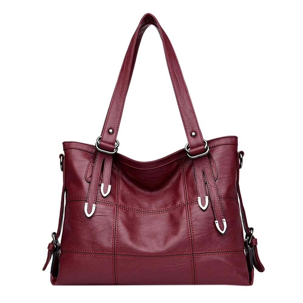 Sac A Main Ladies Retro Style Leather Shoulder Bag Casual Bag Ladies Handbags Woman Double Arrows Big Solid Color Luxury Tote