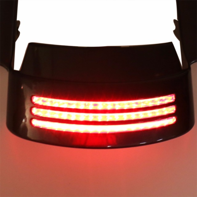 Tri-Bar LED Rear Tail Brake Fender Tip Light For Harley Touring 14-19 Street Glide&Road Glide 15-19 Models