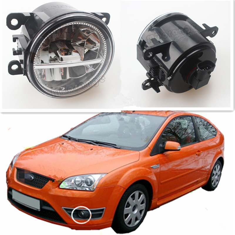 For FORD FOCUS II MK2/3 FUSION TRANSIT Platform Chassis TOURNEO TRANSIT CUSTOM Car Styling Led Lamps Refit Fog Lights 12V 2PCS цены
