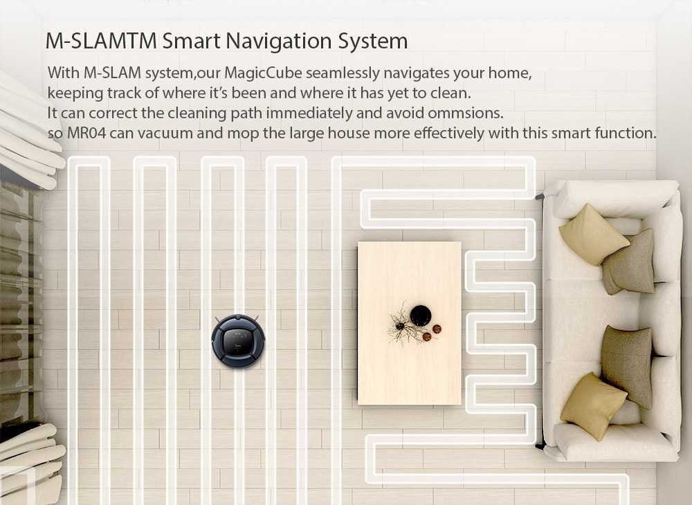 Global Version Smart Robot Vacuum Cleaner of Large capacity With Automatic Navigation and Powerful Suction 6