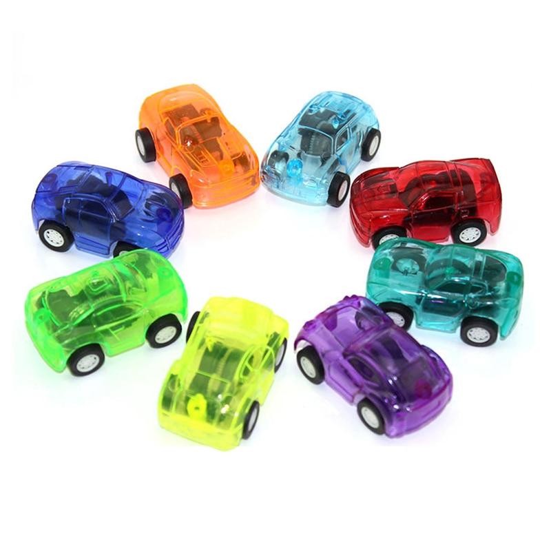 100st Pull Tillbaka Bil Plast Söt Toy Leksaker För Barn Wheels Mini - Bilar och fordon