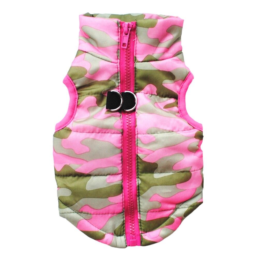 Veste Hiver pour Chien camouflage rose
