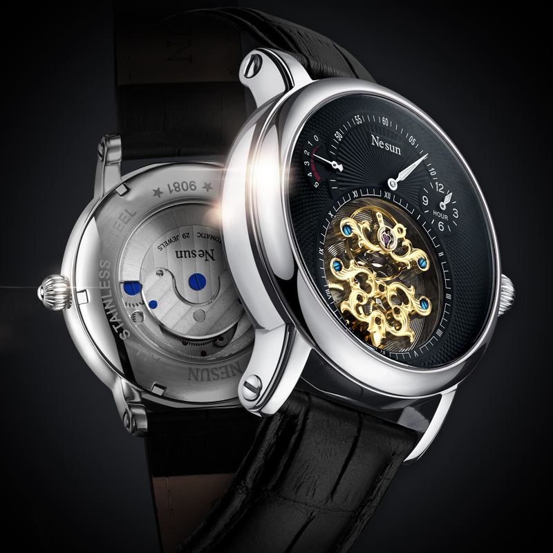Mechanical Watches Men Skeleton Vintage Watch Automatic Mechanical Luxury Tourbillon Mens Watches Waterproof Self-winding Clock fngeen luxury men watches self winding tourbillon wristwatch date high quality waterproof automatic hodinky mechanical watches page 6