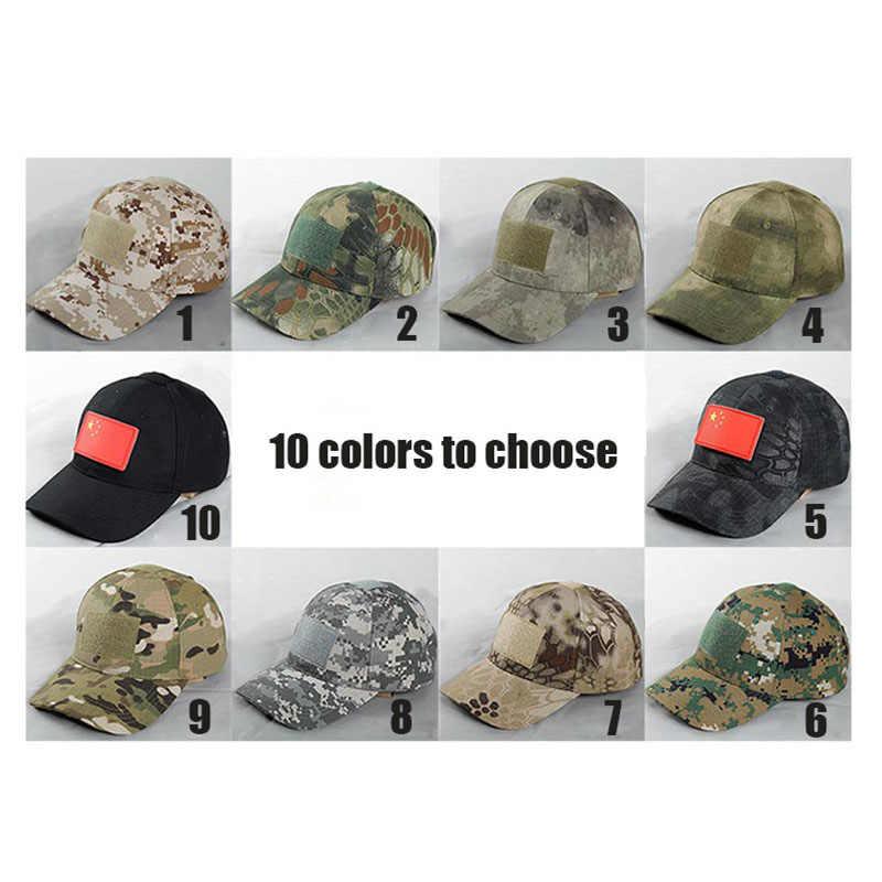Militaire Cap US Army Hoed Camo Commando Camouflage Wandelen Caps Hunter Klimmen Camping Caps Sniper Delta Force Actieve Hoeden