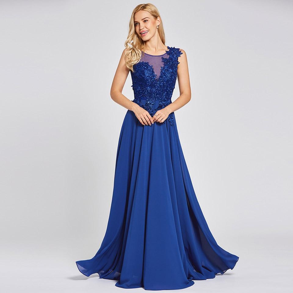 Dressv Daffodil Appliques Long Evening Dress 2017 Cheap A Line Sleeveless Lace Up Chiffon Formal Prom Party Dress Evening Dress