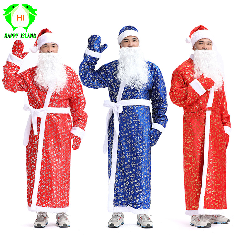 Adult Christmas Costumes Women Santa Claus Costume Men Christmas Cosplay Costume For New Year Festival Girls Party Costume Suits
