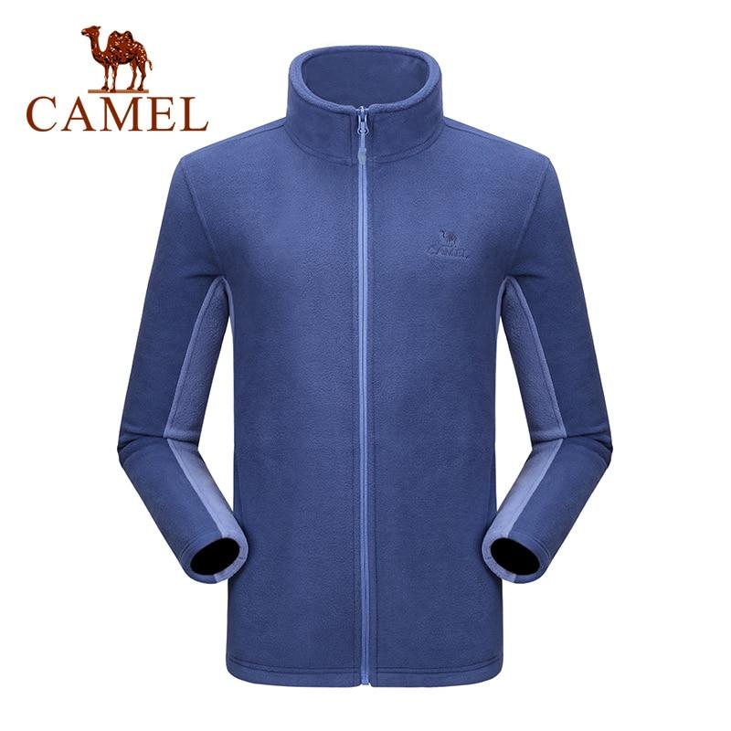 CAMEL Men Women Outdoor Fleece Hiking Jacket 2019 Autumn Windproof Warm Soft Outdoor Jacket Multicolor Camping Coat