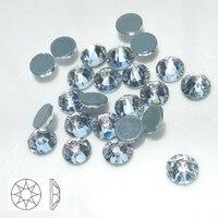2088 Hot Fix Rhinestones Clear White Glass Stones SS30 8 Big 8 Small Crystal Rhinestone Iron