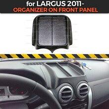 ארגונית על פנל קדמי עבור לאדה Largus 2011 פלסטיק קונסולת של ABS פלסטיק בולט פונקצית כיס רכב סטיילינג אבזרים