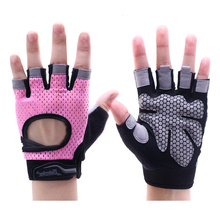 Sports Body Building Fitness Gloves Half Finger women men Wearable Weightlifting Gloves Gym Training Bike Cycling Pink XS S