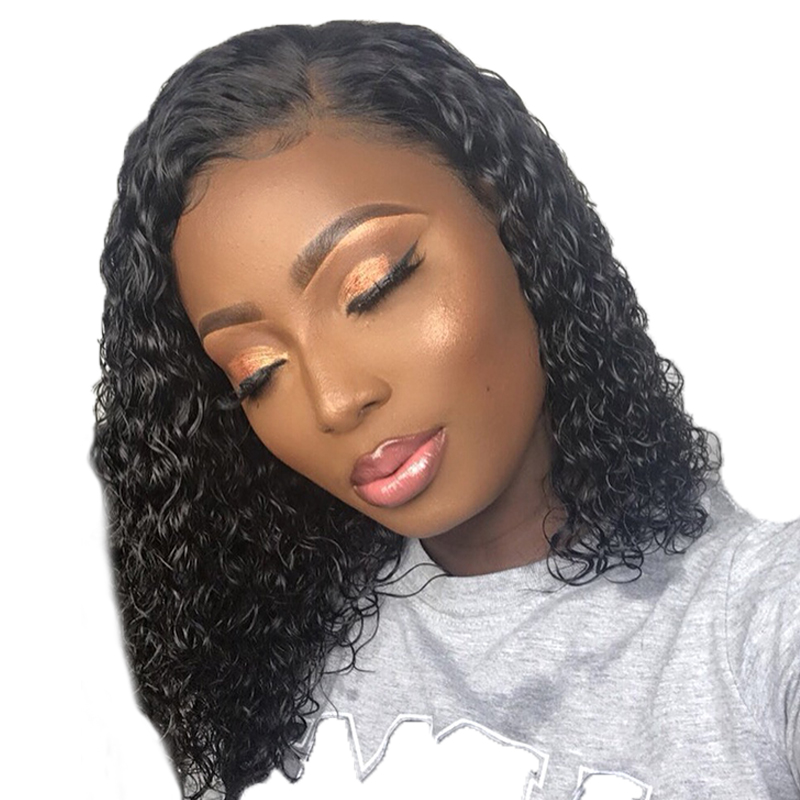 Beeos Curly 13 6 Lace Front Human Hair Wigs 180 For Women Transparent Lace Peruvian Remy