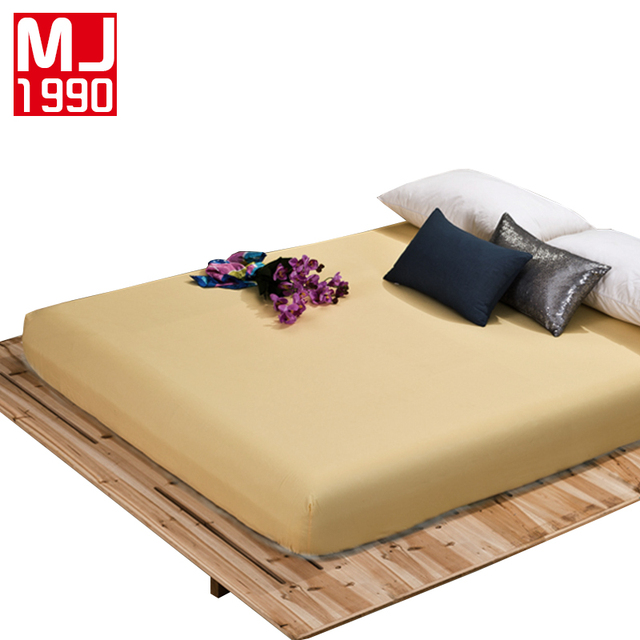 100% Polyester Fitted Sheet Mattress Cover Plain Solid Color Bedding Linens Bed  Sheets With Elastic
