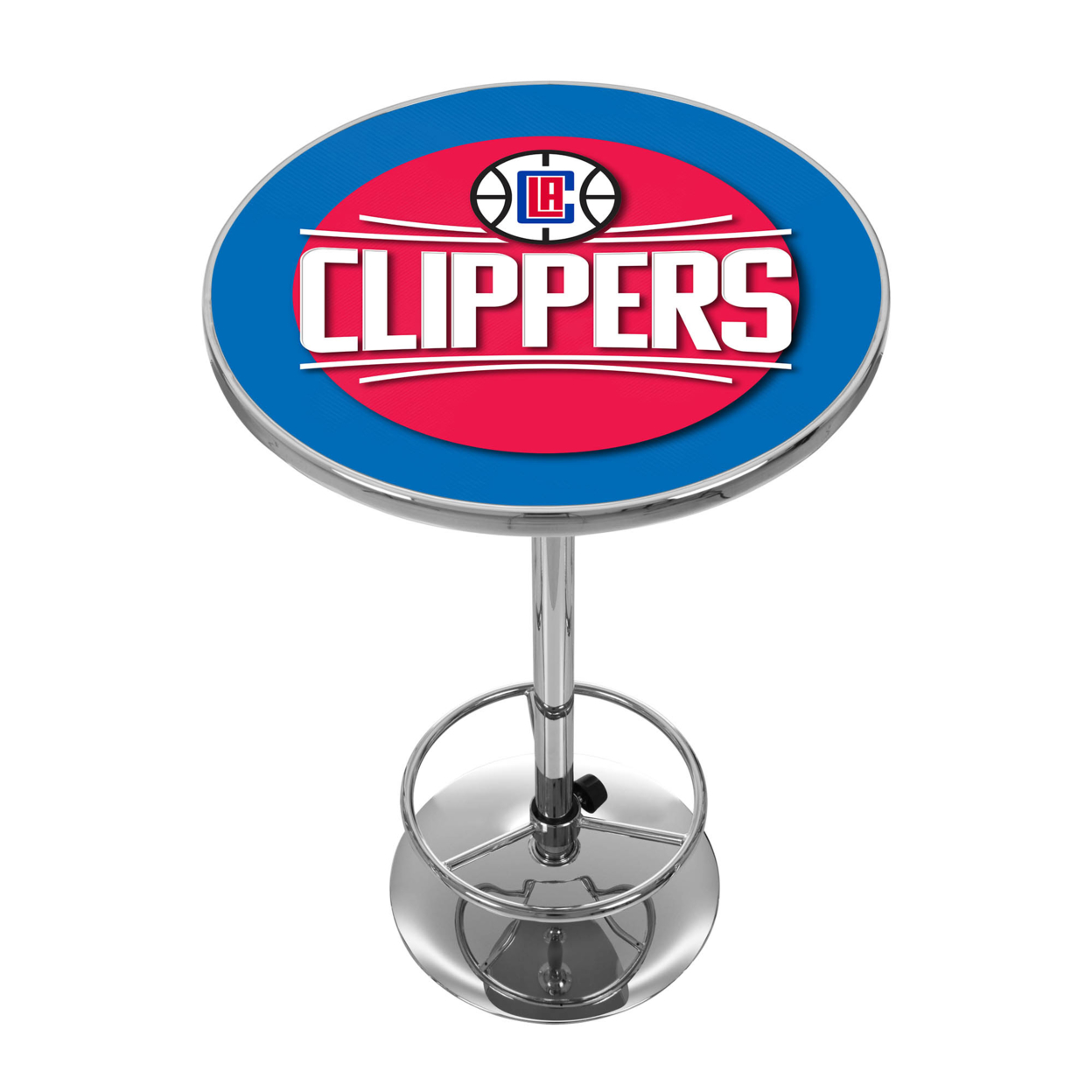 Los Angeles Clippers NBA Chrome 42 Inch Pub Table hunter mfg los angeles angels dog collar extra small
