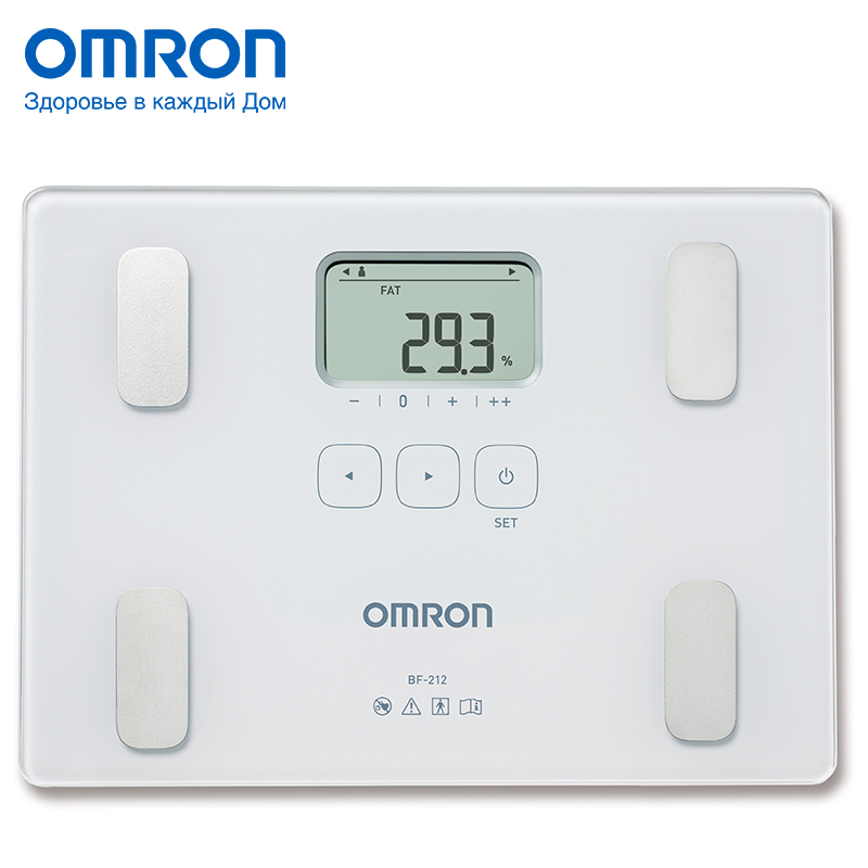 Omron BF212 (HBF-212-EW) Body fat monitor Home Health Care Body fat monitors Digital Analyzer Fat meter detection omron mit elite plus hem 7301 itke7 blood pressure monitor home health care heart beat meter machine tonometer automatic digital