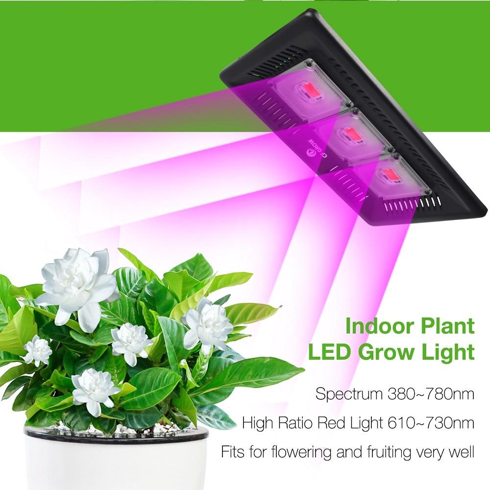 Ultra-mince LED grandir lumière spectre complet 300 W étanche IP67 LED COB lampe de croissance pour plantes d'intérieur extérieur légumes floraison