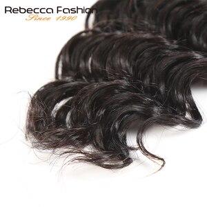 Rebecca Malaysian глубокая волна 4 шт. человеческие волосы для плетения оптом без уток 10 до 28 30 дюймов Remy объемные человеческие волосы натуральный цв...