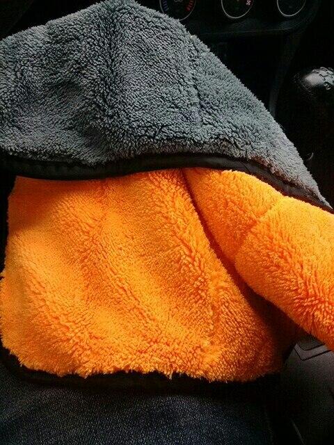1 шт. 800gsm 45x38 см микрофибры для чистки автомобиля супер толстые плюшевые из микрофибры Детализация воск для полировки Полотенца автомобиля уход