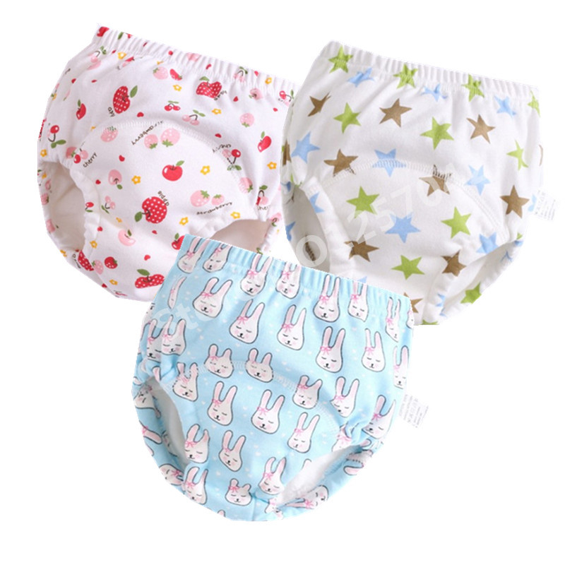 2pcs Cotton Baby Training Panties Pants Reusable Cloth